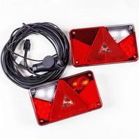 SET: Lămpi spate Aspöck Multipoint V LED cu cablajul 5,5 m 13-PIN