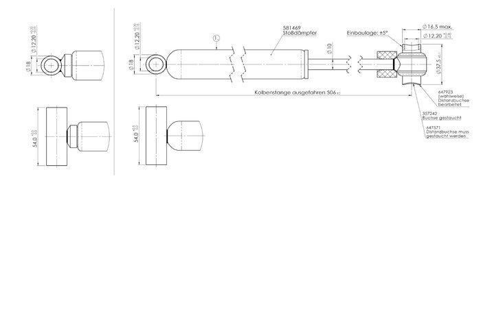 Amortizor frână inerțială AL-KO 251S 2700 KG - model nou