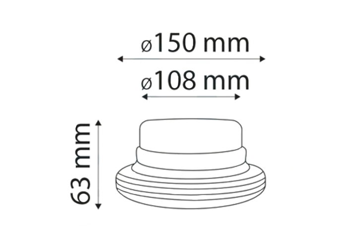 Avertizor optic ,,girofar'' cu LED pe magnet 410