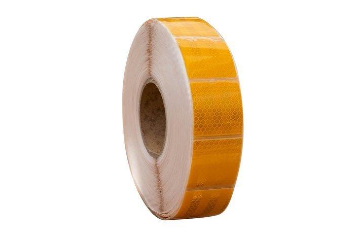 Banda reflectorizantă galbenă segmentată - rola întreagă 45 m