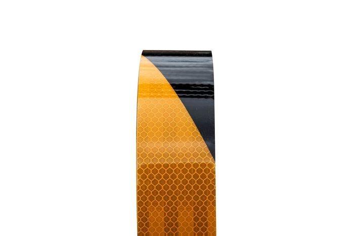 Banda reflectorizantă negru-galbenă -  1 m