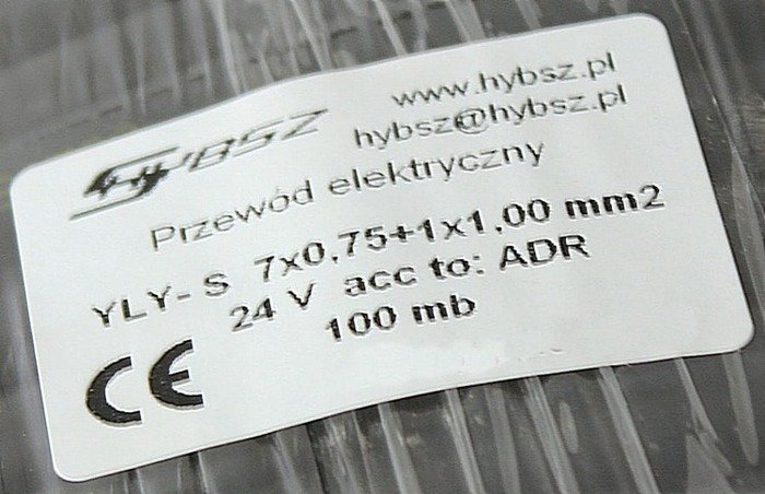 Cablu electric 8 fire YLYs 7x0.75+1x1,0mm 1m