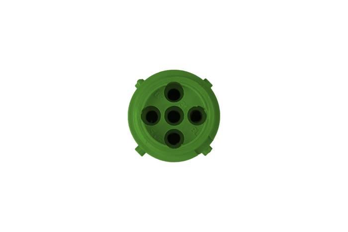 Conector ASPÖCK 5-PIN tip baionetă, moș, verde