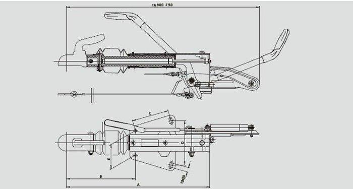 Cuplă remorcare pentru remorci auto - KNOTT KF13 1400kg