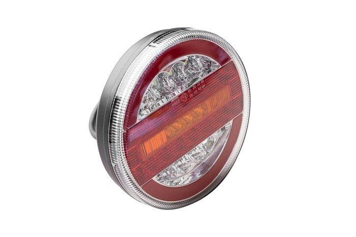 Lampă spate rotundă cu LED 12-24V cu 4 funcții