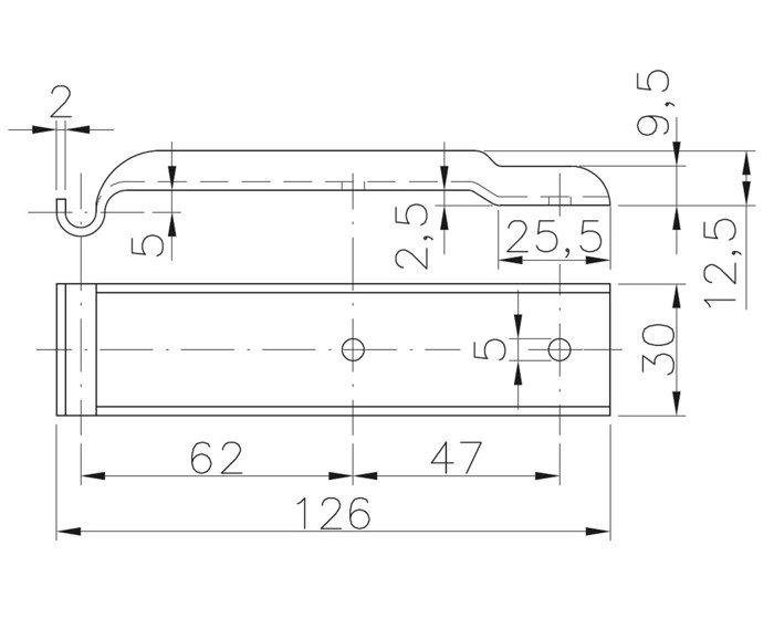 Placă pentru închizătoare oblon BVG 10-B Winterhoff