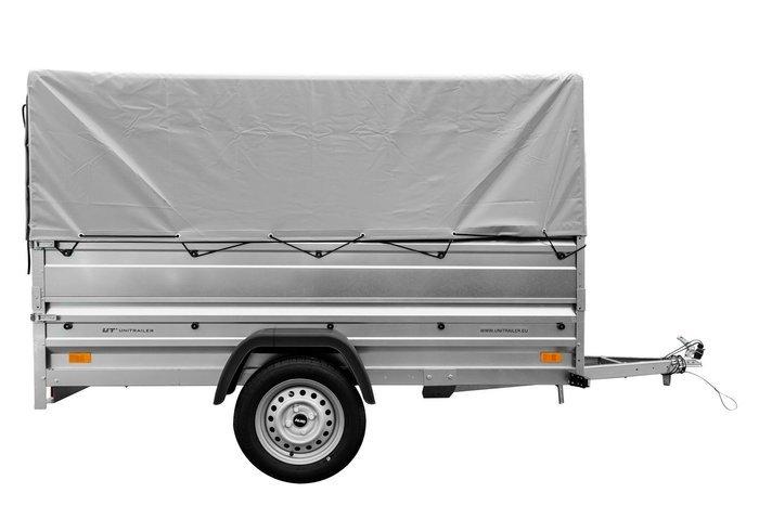 Remorca transport 236x125 Garden Trailer 236 cu obloanele duble, scheletul prelată și prelata H80