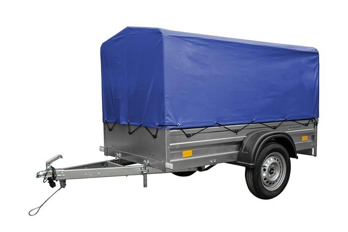 Remorcaauto ușoară 200 x 106 cu schelet pentru prelată și prelată Garden Traler 200 Unitrailer  masa totală maximă admisă de: 750 kg