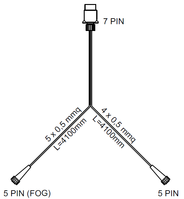 SET: Lămpi spate LED Fristom FT-270 cu cablaj de 4 m cu 7-PIN