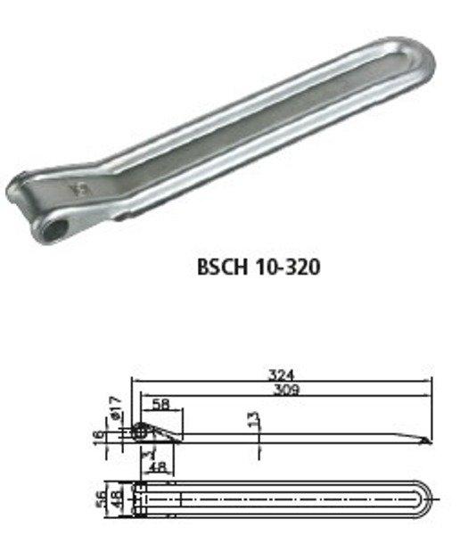 Set: Balama pentru oblon BSCH 10-17-320 și mâner balama BSCHG 10-A Winterhoff
