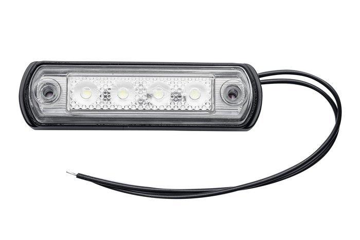 Set de 4 lămpi de gabarit cu LED-uri albe pe o bază din cauciuc Horpol